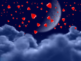 hearts in night (find more in my portfolio)