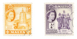 queen elizabeth ii on maltese stamps poster