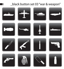 "black button set 03 ""war & weapon"""