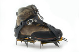 boot with crampons.