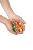 handful of jelly beans poster