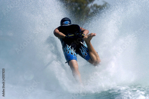 Fotobehang Water Motorsp. barefoot skiing 02