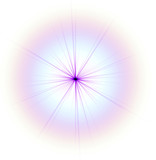 lilac star isolated on white poster