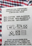 100% cotton  - real macro of clothing label poster