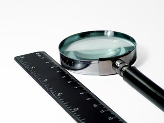 magnifier and ruler