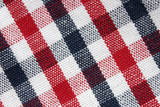 macro of colorful grid pattern cloth poster