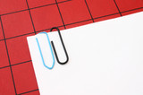 paper clips with copyspace poster