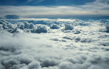 over clouds