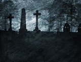 scary graveyard poster