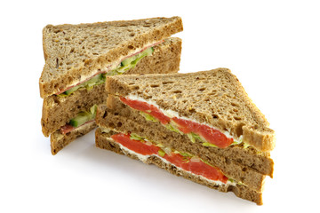 big sandwich with a salmon