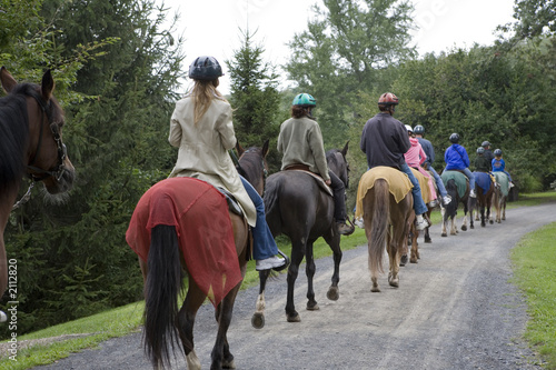 Fototapeta horseback riding group