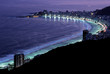 copacabana beach by night