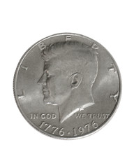 front of half dollar, clippathed