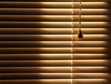 closed venetian blinds background poster