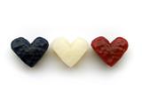 three wax hearts poster