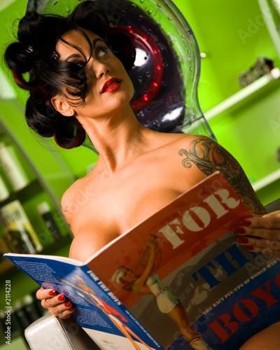 Leinwandbild Motiv hair salon girl