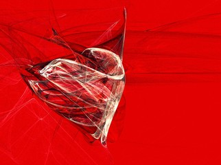 abstraction red heart. valentines card