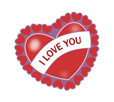 heart with i love you poster