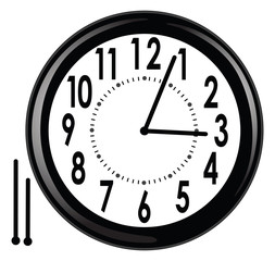 office, school, or home wall clock - vector