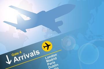 aeroplane arrivals