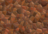 steine braun stones brown poster