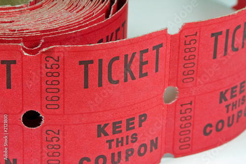 roll of raffle tickets
