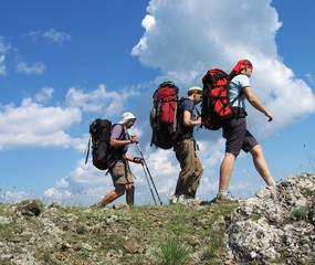 three climbers