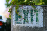 old exit sign poster