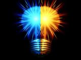 two shiny bulbs_half poster