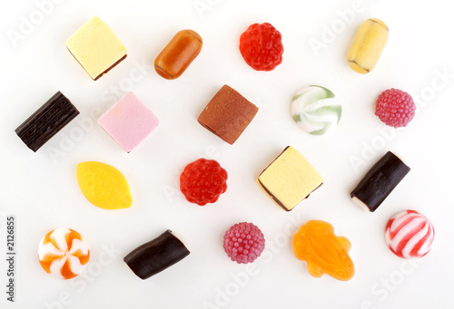 many not chocolate different sweets