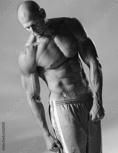 Leinwandbild Motiv fit male model