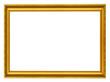 Leinwanddruck Bild - golden horizontal frame