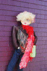 mannequin dressed in funky clothing