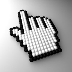 3d mouse pointer – hand