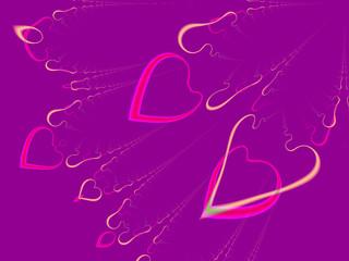 valentine hearts (flying)