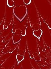 valentines day hearts (raining down)