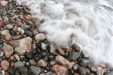 water motion flowing lake superior rocks agate col poster