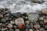 agate beach color flow water rock stone pebble sho poster