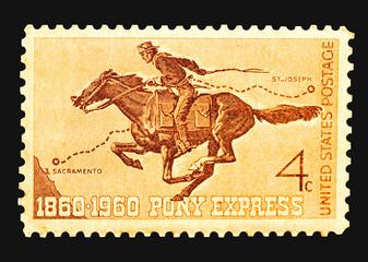 stamp - pony express