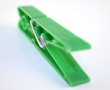 green clothes peg