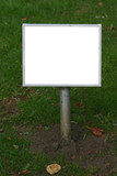 blank lawn signpost poster