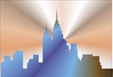 cityscape chrome2 poster