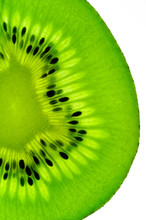 kiwi fruit  slice on a light table (vertical back