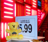 teddy bear on sale in a toy store poster