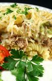 creamy tuna and pasta bake poster
