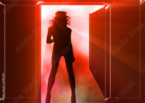 Fotobehang Licht, schaduw disco