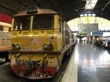 railway train at station in bangkok poster