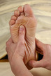 reflexology foot massage sole and heel