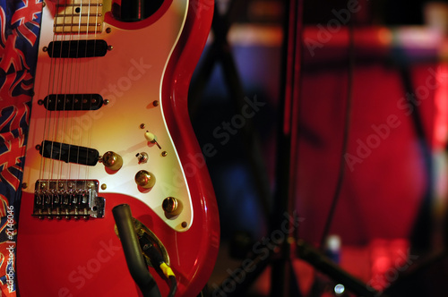classic red guitar