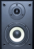 audio system equipment - speaker close up view poster